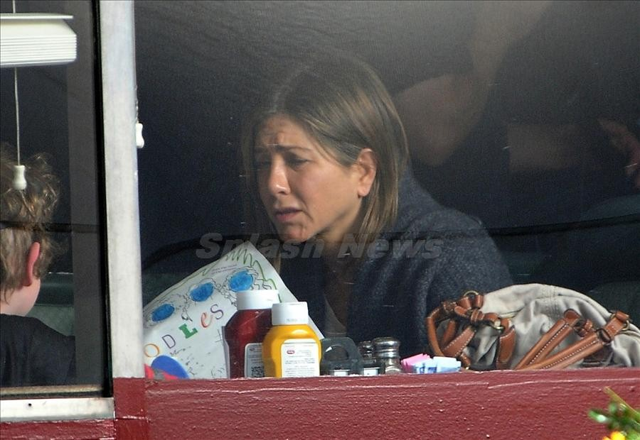 Jennifer Aniston seen filming 'Cake' in Los Angeles, California